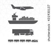 means of transportation... | Shutterstock .eps vector #431930137