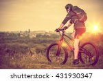 bike trip with city view.... | Shutterstock . vector #431930347