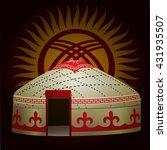 yurt of kyrgyzstan. vector... | Shutterstock .eps vector #431935507