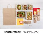 healthy food delivery. take... | Shutterstock . vector #431943397