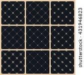 vector seamless pattern set...
