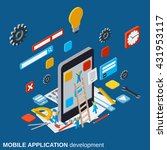 mobile application development  ... | Shutterstock .eps vector #431953117
