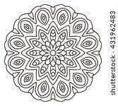 vector mandala for coloring...   Shutterstock .eps vector #431962483