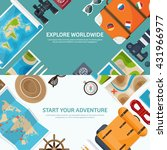 travel tourism vector... | Shutterstock .eps vector #431966977