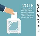 voting  election concept.... | Shutterstock .eps vector #431970433