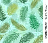 background with palm leaves.... | Shutterstock .eps vector #431976067