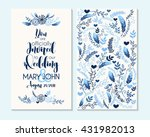 wedding invitation  thank you... | Shutterstock .eps vector #431982013