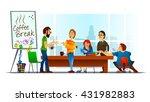 vector illustration of coffee... | Shutterstock .eps vector #431982883