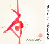 silhouettes of a gymnast in the ... | Shutterstock .eps vector #431984707