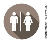 man and lady toilet sign | Shutterstock .eps vector #431996287