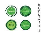 fresh eco friendly green theme... | Shutterstock .eps vector #432003907