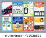 set of vector business flyer...   Shutterstock .eps vector #432028813