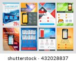 set of vector business flyer... | Shutterstock .eps vector #432028837