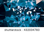 abstract low poly background ... | Shutterstock . vector #432034783