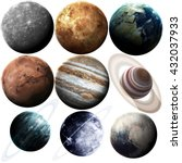 isolated set of planets in the... | Shutterstock . vector #432037933