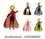 queen set. cute collection of... | Shutterstock .eps vector #432048403