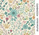 seamless vector floral pattern  ... | Shutterstock .eps vector #432048493