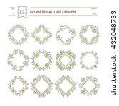 vector set of flower frames...   Shutterstock .eps vector #432048733