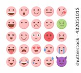 emoticon emoji set icon design... | Shutterstock .eps vector #432051013