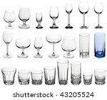 set of glasses for alcoholic... | Shutterstock . vector #43205524