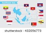 southeast asia map  vector...   Shutterstock .eps vector #432056773