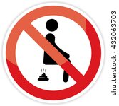 no poop sign on white... | Shutterstock . vector #432063703