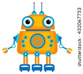 colorful toy robot. vector... | Shutterstock .eps vector #432067753