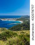 Small photo of Cala Agulla and beautiful coast at Cala Ratjada of Mallorca, Spain