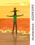 happy father's day greeting... | Shutterstock .eps vector #432091093