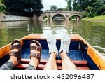 Man And Woman Feet On A Boat...
