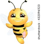 bee on a white background | Shutterstock .eps vector #432096523