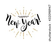 happy new year. beautiful... | Shutterstock .eps vector #432098947