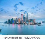 Beautiful Shanghai Skyline In...