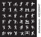 set of sport icons. vector... | Shutterstock .eps vector #432100447