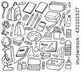 hand drawn doodle school... | Shutterstock .eps vector #432101527