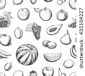 vector collection of sketches... | Shutterstock .eps vector #432104227