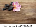 spa stones and orchid flower on ... | Shutterstock . vector #432107617