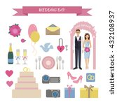 wedding day. accessories for... | Shutterstock .eps vector #432108937