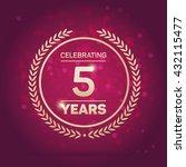 5 years anniversary badge on... | Shutterstock .eps vector #432115477