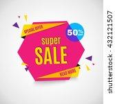 sale banner. | Shutterstock .eps vector #432121507