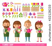 vector set of characters and... | Shutterstock .eps vector #432128233