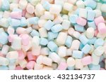 Marshmallows. Background Or...