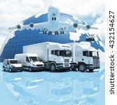 3d image concept of worldwide... | Shutterstock . vector #432154627