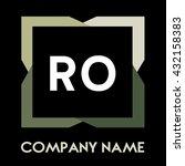 ro letters business logo...   Shutterstock .eps vector #432158383