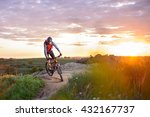 cyclist riding the bike on the... | Shutterstock . vector #432167737