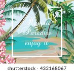 tropical exotic paradise beach. ... | Shutterstock .eps vector #432168067
