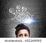 brainstorming and idea concept... | Shutterstock . vector #432169093