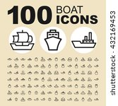ship and boat icons. water... | Shutterstock .eps vector #432169453