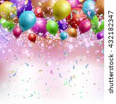 background wth confetti and... | Shutterstock .eps vector #432182347