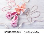 beautiful composition with baby ... | Shutterstock . vector #432199657